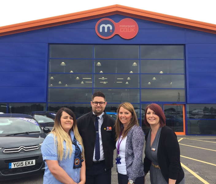 Pictured from the left are Rachel Bowden, Customer Services Manager; Richard Smith, Sales Manager; Tracey Mearns, Partnership Development Coordinator at The Prince of Wales Hospice and Amy Simpson, Business Support Manager