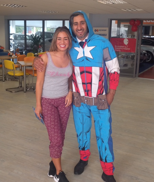 Motorpoint Birmingham dressed up as superheroes for the anniversary celebrations (1)