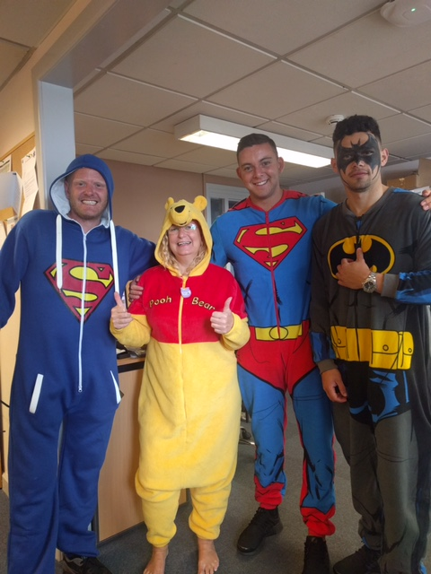 Motorpoint Birmingham dressed up as superheroes for the anniversary celebrations