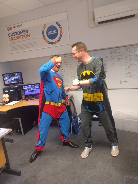 Motorpoint Birmingham dressed up as superheroes for the anniversary celebrations (6)