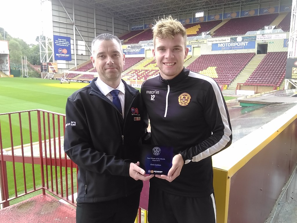Paul Carroll and Chris Cadden at Fir Park