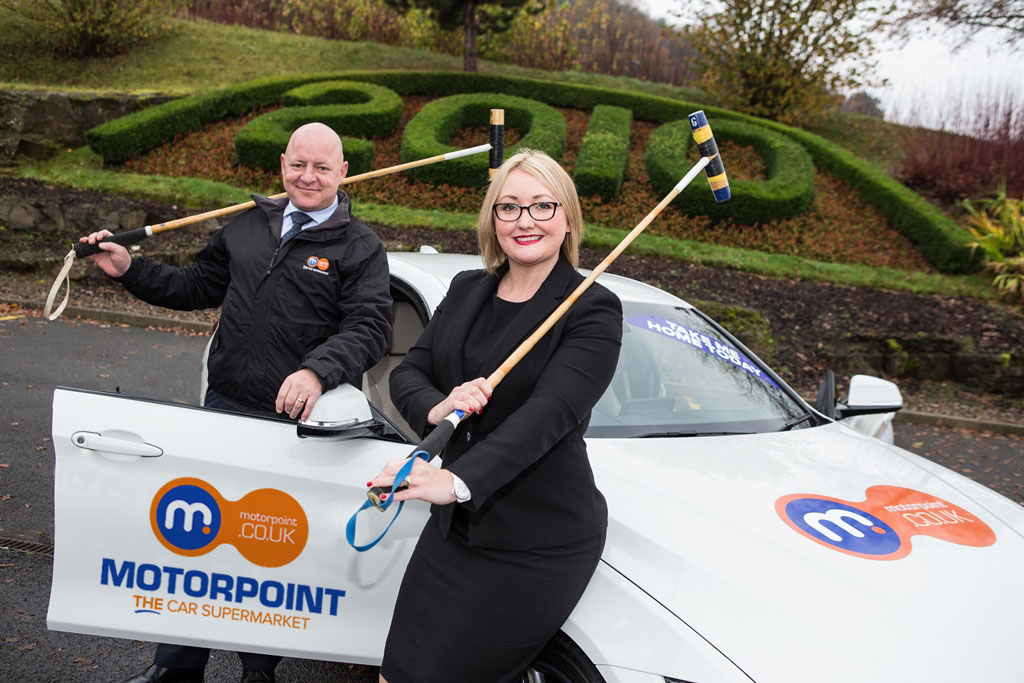 L-R Russell Louth, General Manager at Motorpoint in Newport and Danielle Bounds, Sales Director at Celtic Manor Resort