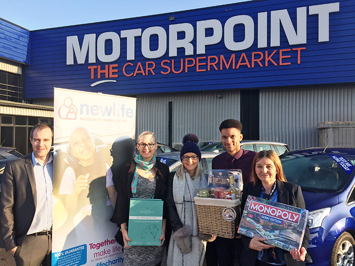 Motorpoint raffle raises over £1,000 for Newlife charity