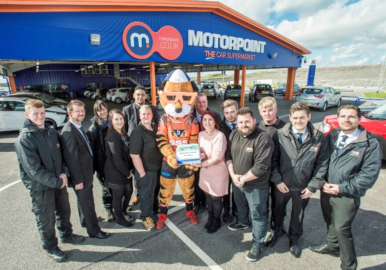 Castleford Tigers mascot JT joined the first anniversary celebrations at Motorpoint in Castleford