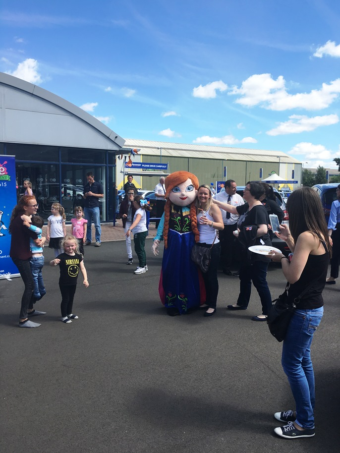 Hundreds of people visited Motorpoint in Oldbury at the start of July to help celebrate the branches first anniversary