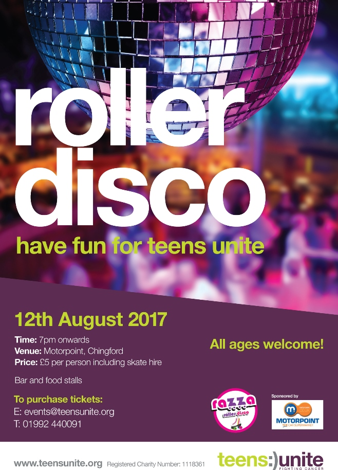 Motorpoint is set to host a Roller Disco on August 12 in aid of Teens Unite