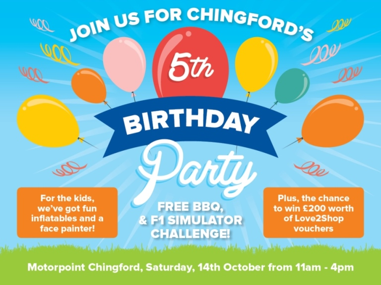 Motoroint is hosting a party this weekend in Chingford to celebrate it's fifth anniversary