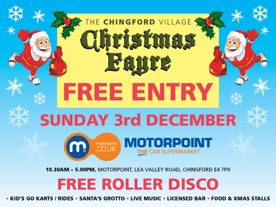 Chingford Village Christmas Fayre rolls into Motorpoint next month