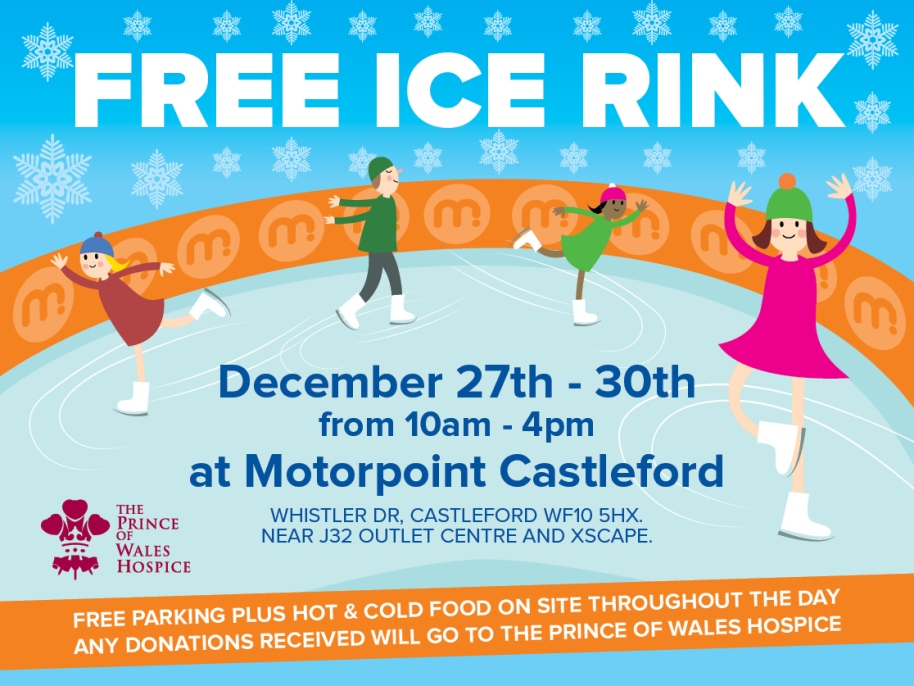 Get your skates on to Motorpoint Castleford for free ice rink!