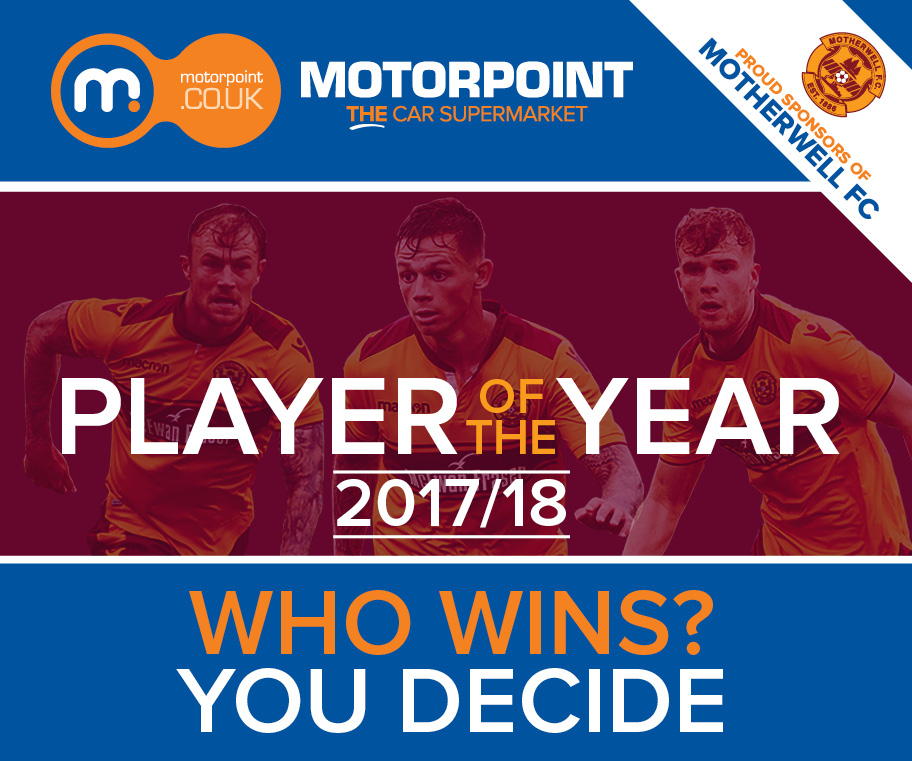 Motorpoint gives Motherwell fans chance to present Player of the Year trophy