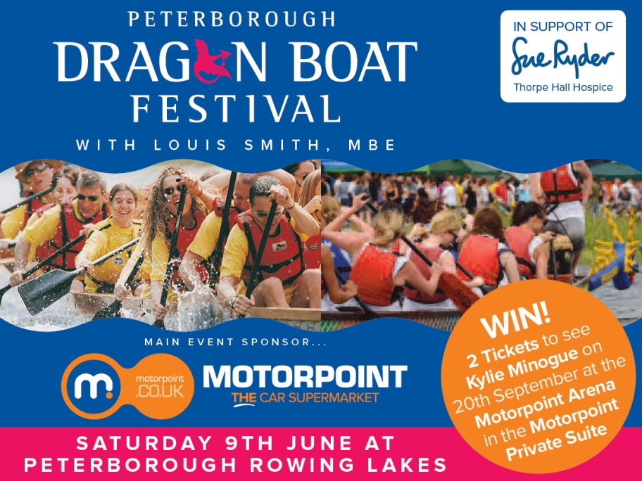 Motorpoint offers visitors to Peterborough Dragon Boat Festival chance to win Kylie VIP tickets
