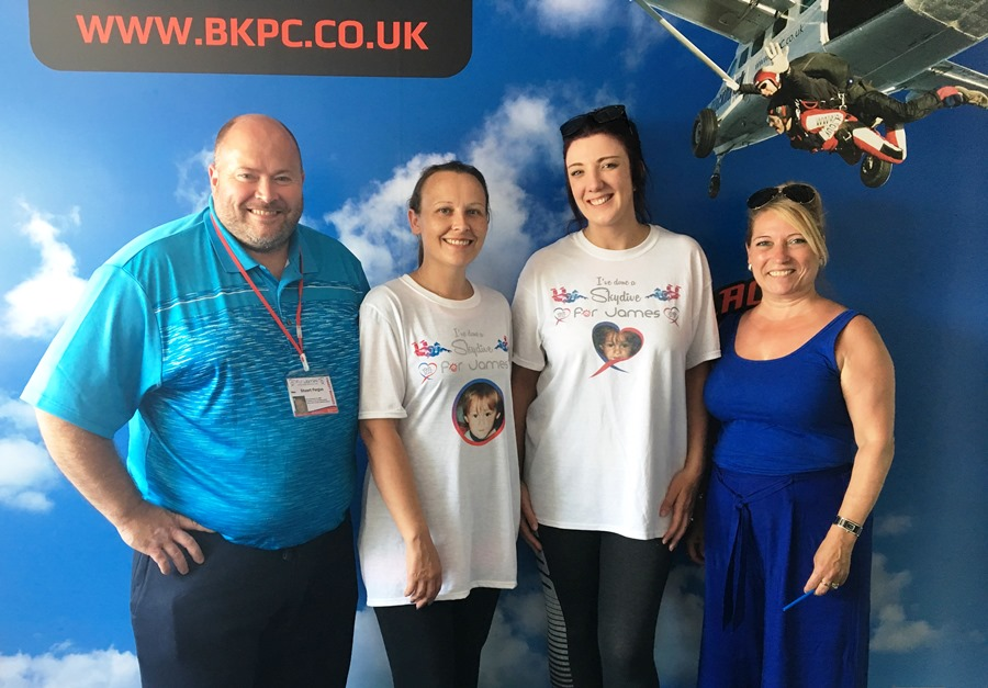 Stuart Fergus, James Bulger Memorial Trust; Caroline Tollitt and Jenny Hill, Motorpoint Widnes and Denise Fergus