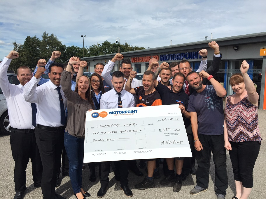 Motorpoint staff raise money taking to the streets of Burnley