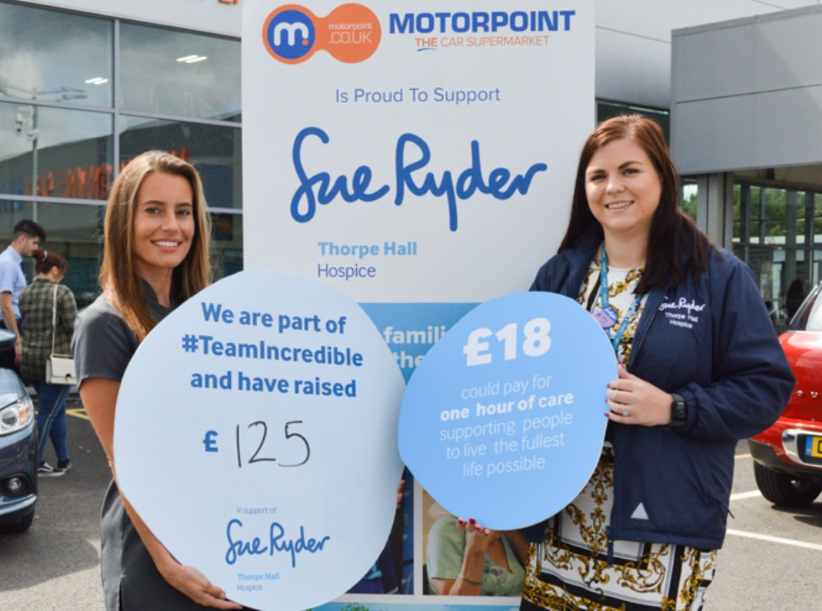Massages aid fundraising effort at Motorpoint Peterborough