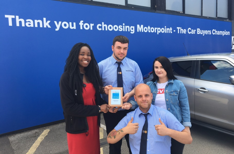 Motorpoint gets top rating from CarGurus
