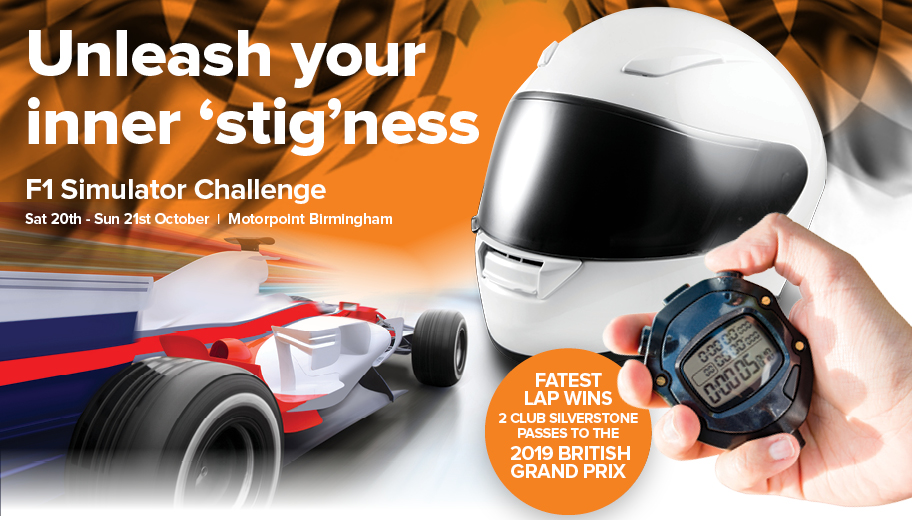 Motorpoint sets drivers F1 simulator challenge in Birmingham