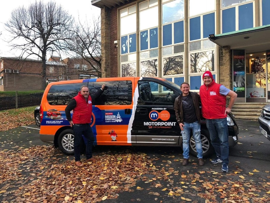 Motorpoint helps Mission Christmas gets mobile across South Yorkshire