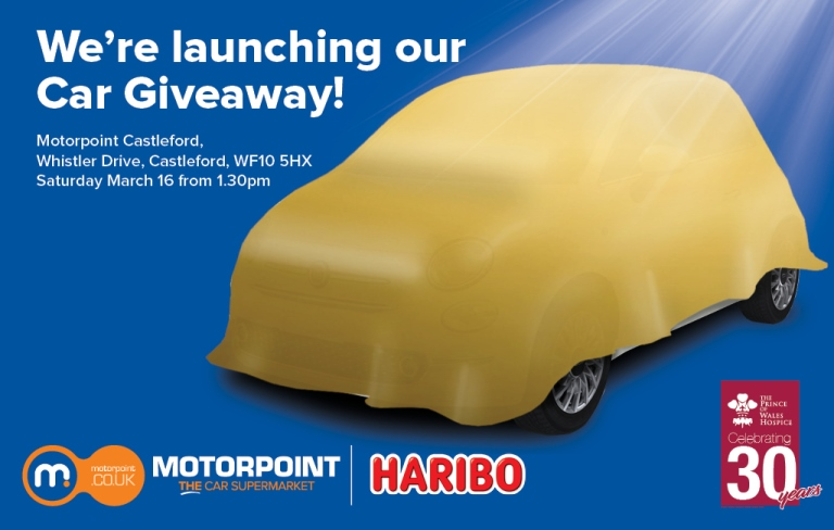Motorpoint teams up with HARIBO to give away a car in aid of Prince of Wales Hospice